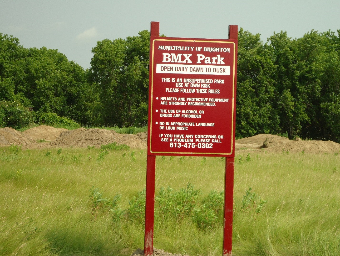 Photo of BMX Trail Sign