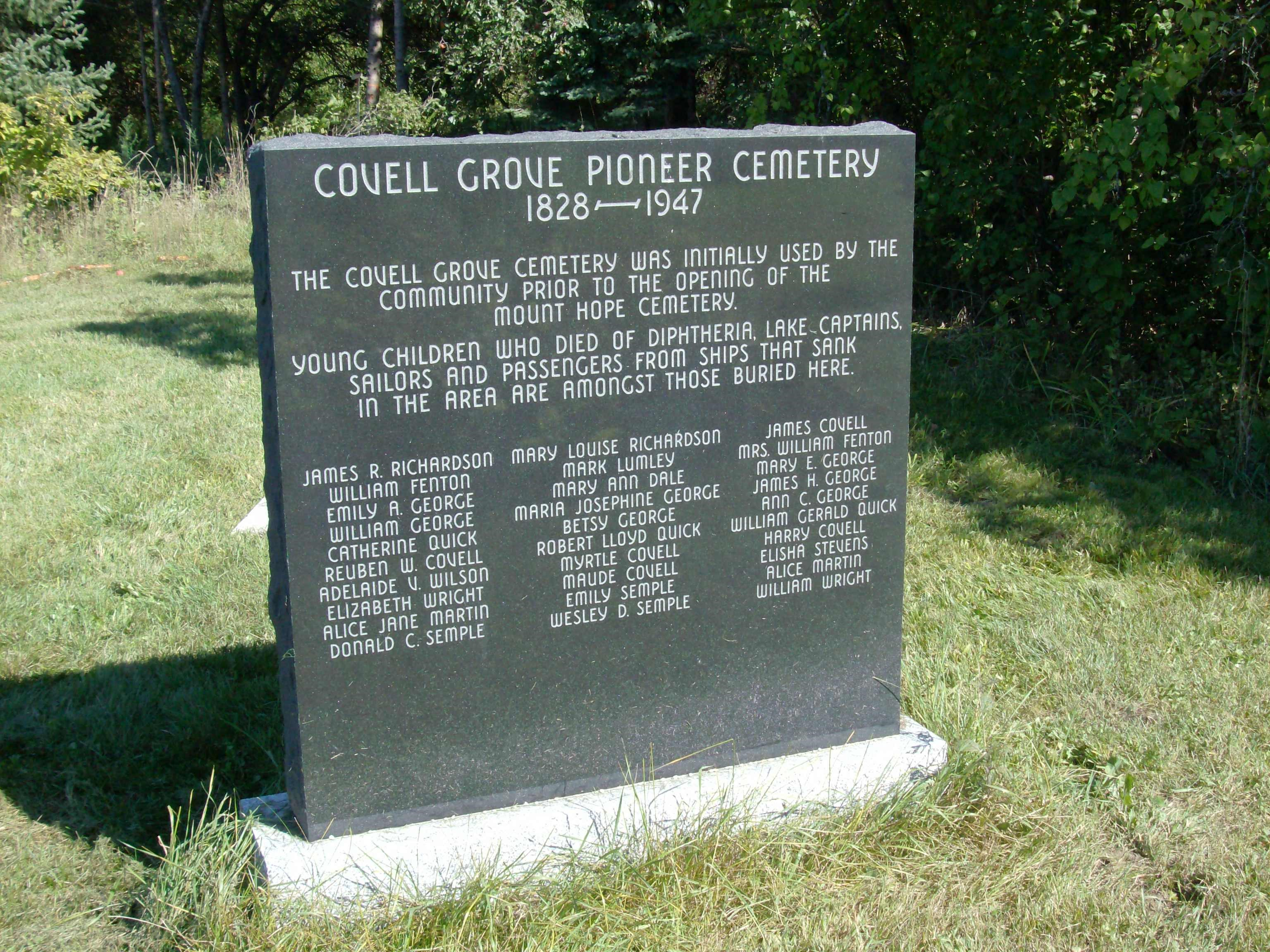 photo of Covell Grove Cemetery